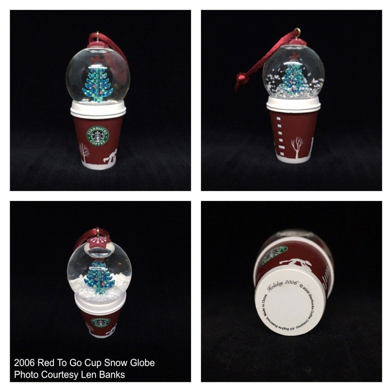 2006 Red To Go Cup Snow Globe Image