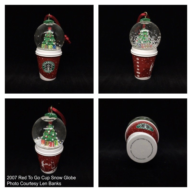 2007 Red To Go Cup Snow Globe Image