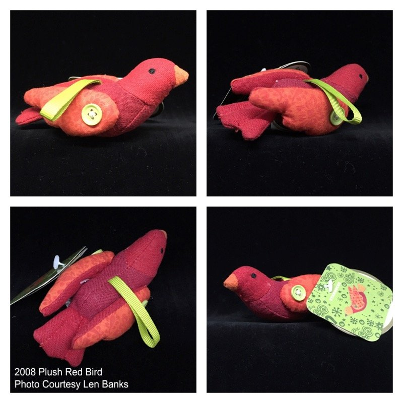 2008 Plush Red Bird Image