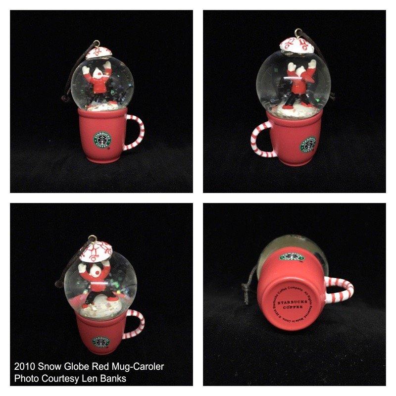 2010 Snow Globe Red Mug-Caroler Image