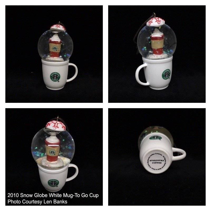 Starbucks Ornament White Cup