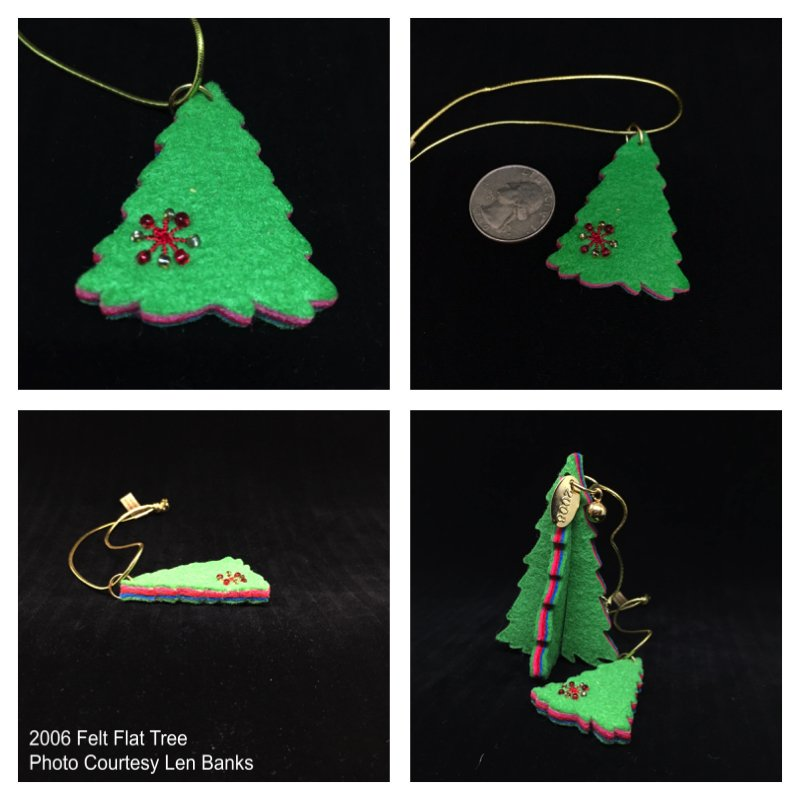2006 Felt Flat Tree (part of a gift pack set) Image