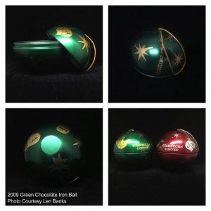 2009 Green Chocolate Iron Ball Image
