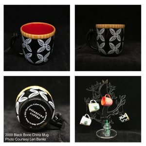 2009 Black Bone China Mug Image