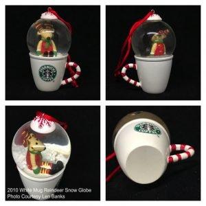 2010 White Mug Reindeer Snow Globe Image