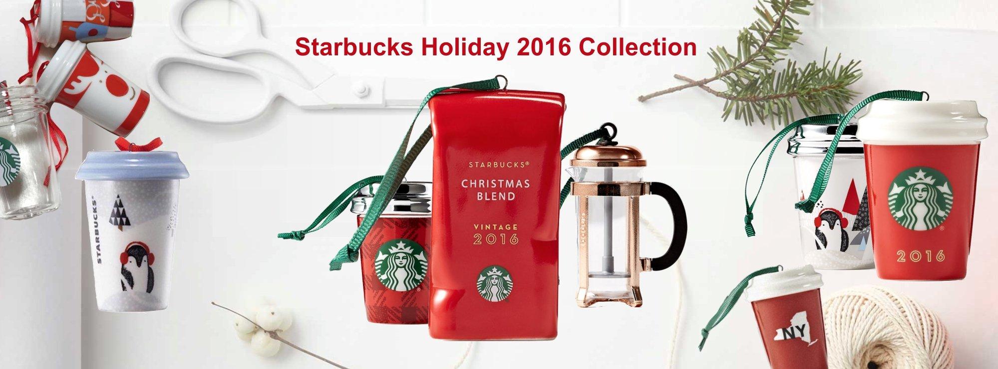 NWT Truck Starbucks Ornament 2016 2017 2018 Siren Glitter Press Cable