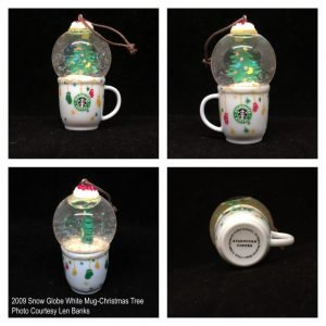 2009 Snow Globe White Mug-Christmas Tree Image