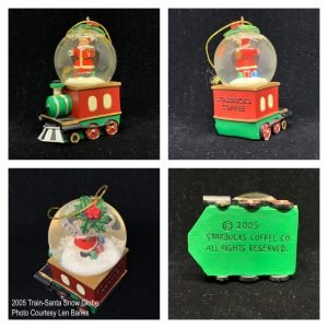2005 Train-Santa Snow Globe Image