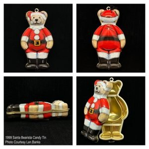 1999 Santa Bearista Candy Tin Image